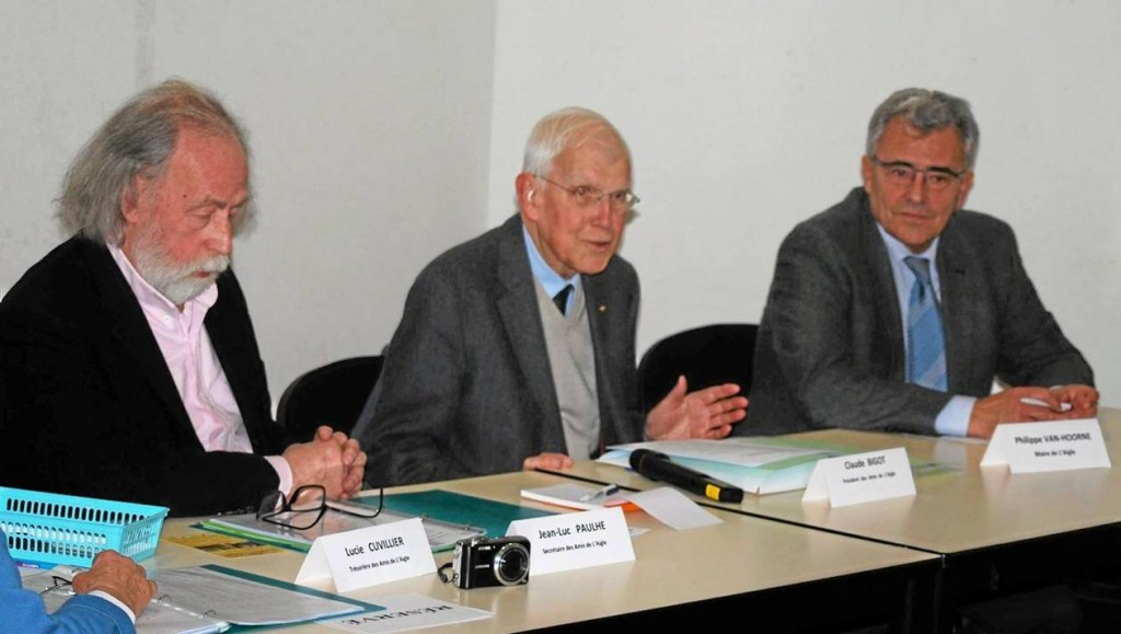 De gauche à droite : Jean-Luc Paulhe, Claude Bigot et Philippe Van-Hoorne.